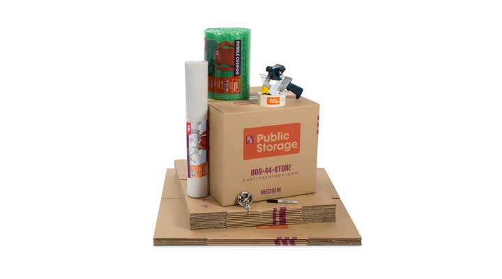 public storage box and supplies