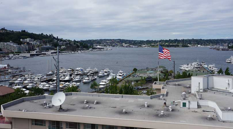 view from the roof of Public Storage 700 Fairview Ave N Seattle WA 98109