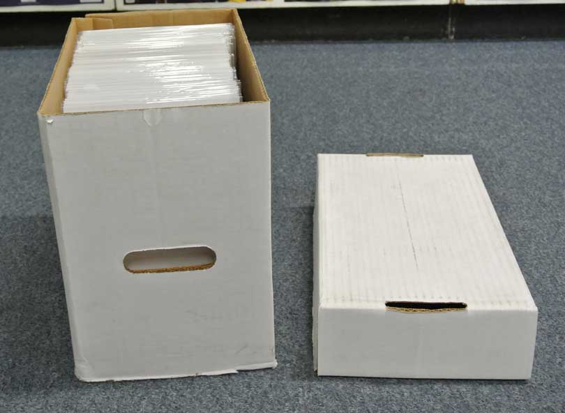 comic book storage box and sleeves