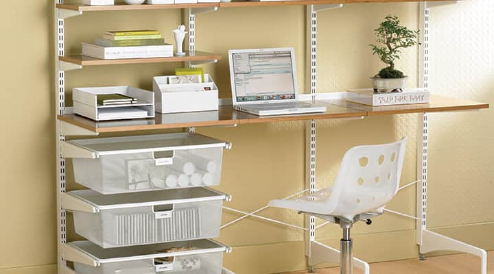 container store wall mount desk