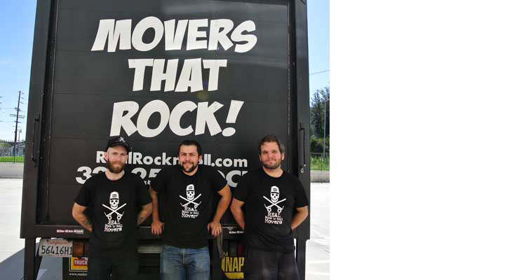 truck and crew for los angeles moving company real rocknroll movers