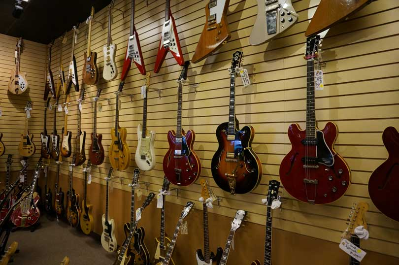 a wall of guitars