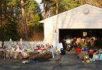 neighborhood garage sale advertised online 145x100