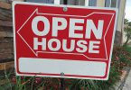 open house sign save for down payment 145x100
