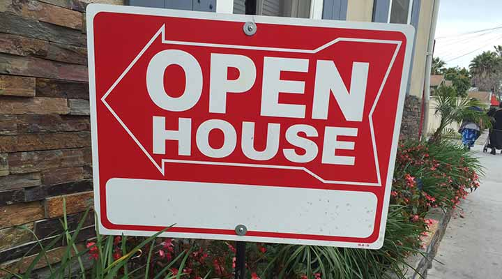 open house sign save for down payment