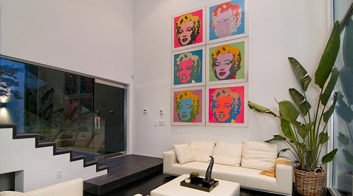 andy warhol painting layout for wall in home