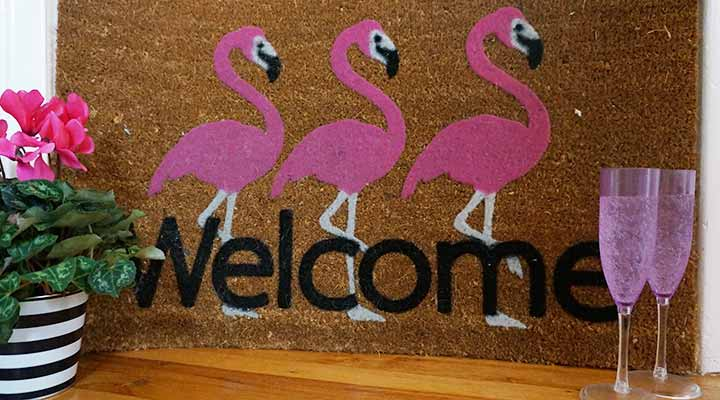 welcome mat housewarming party gift