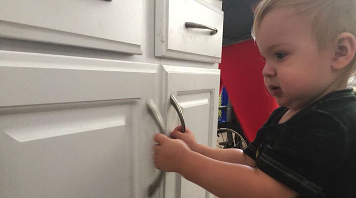 diy baby proofing kitchen cabinets
