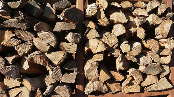 stack firewood for storage