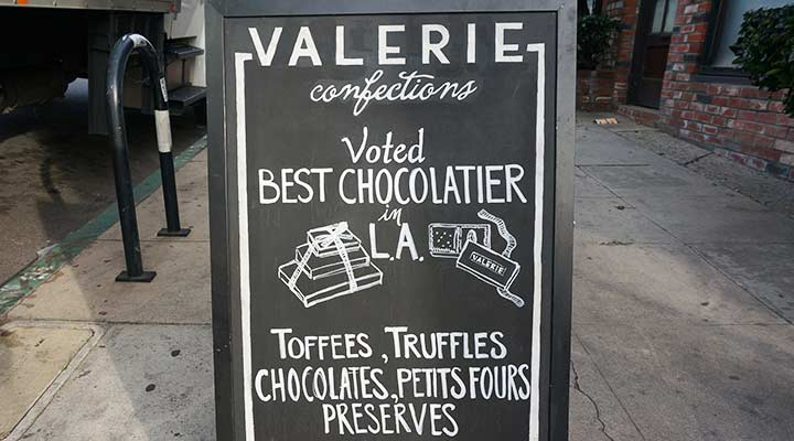 street sign of valerie confections