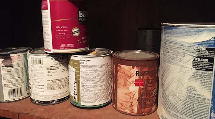 how to store paint at home