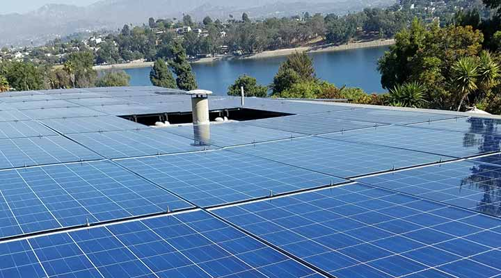solar panel cleaning and maintenance on roof