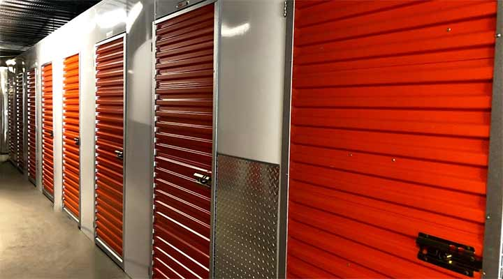 hallway of new storage units in carson