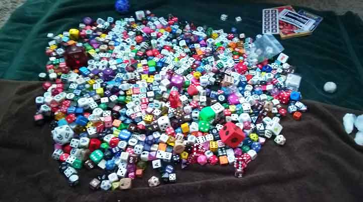 pile of dice collection