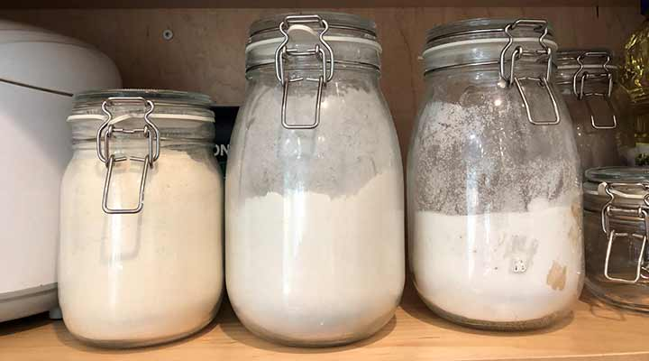 kitchen storage jars for pantry