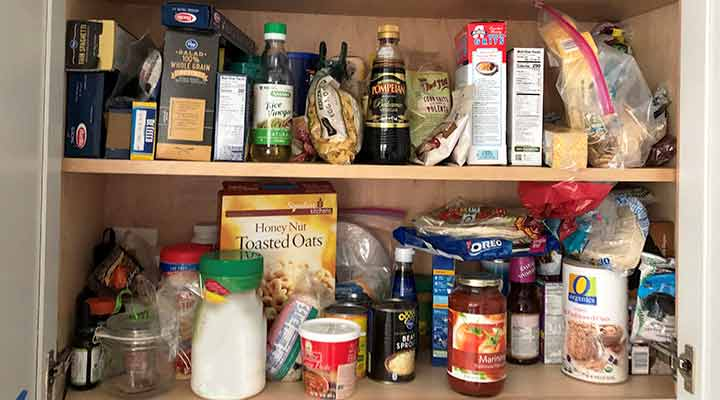 messy pantry full of