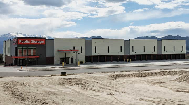 Public Storage new Colorado Springs facility distance shot with large property lot visible