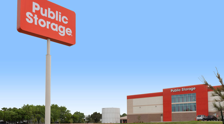 redeveloped North Freeway Houston Public Storage Facility