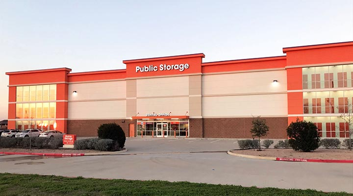 Houston climate controlled storage facility owned by Public Storage