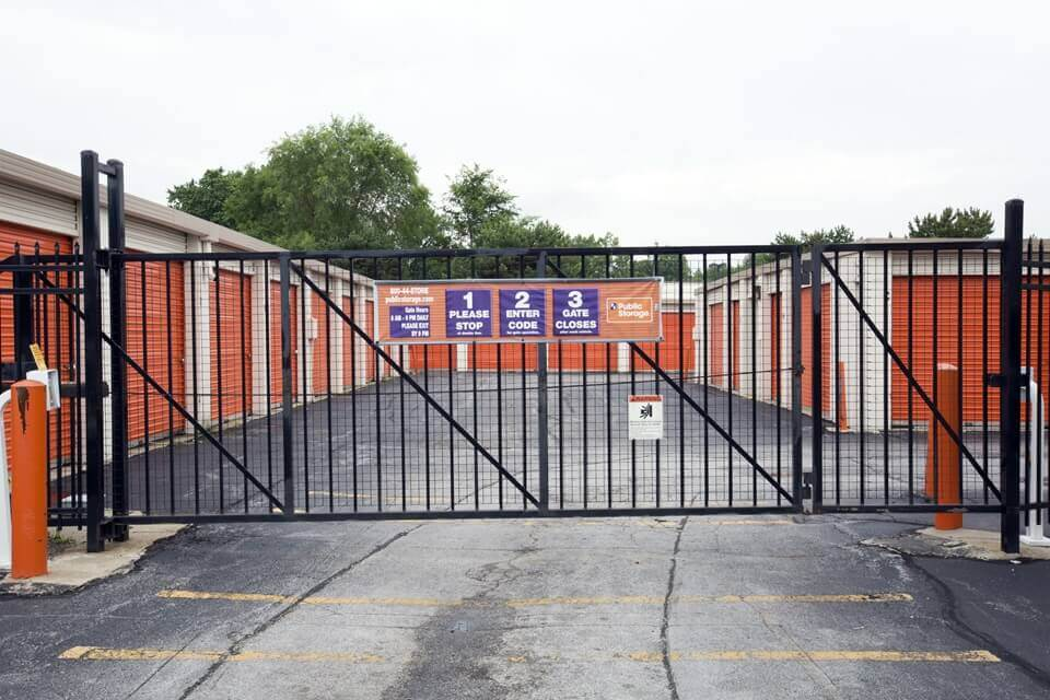 public storage 1915 n cline ave griffith in 46319 security gate