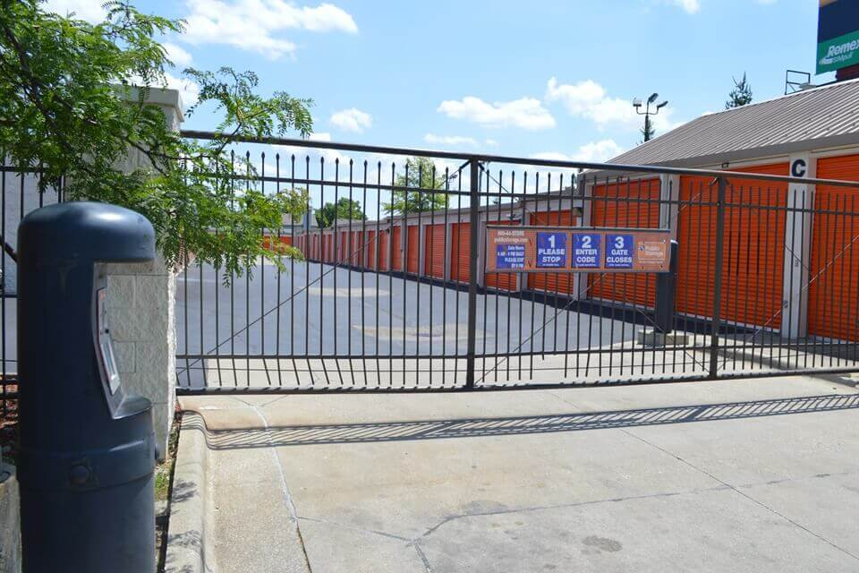 public storage 5725 georgetown road indianapolis in 46254 security gate