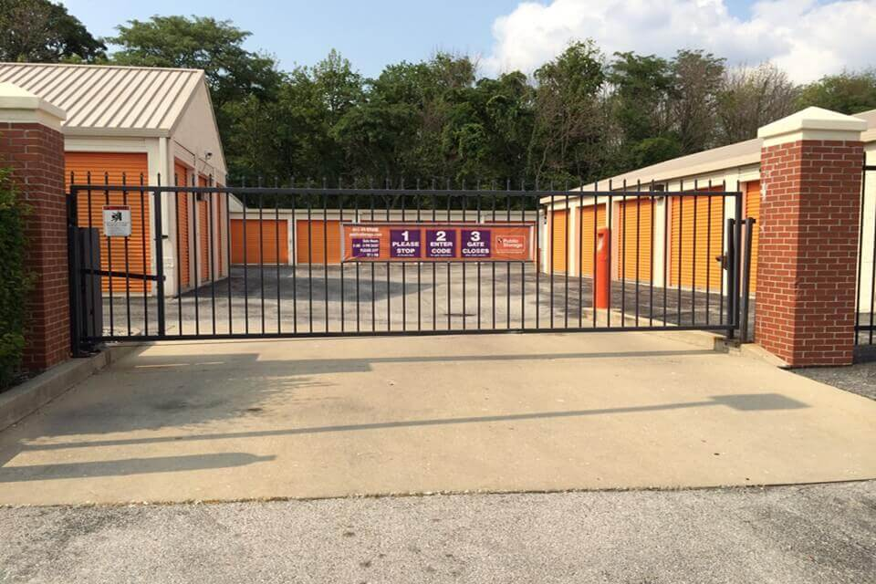 public storage 6940 shore terrace drive indianapolis in 46254 security gate