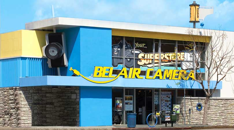 iconic Bel Air Camera store