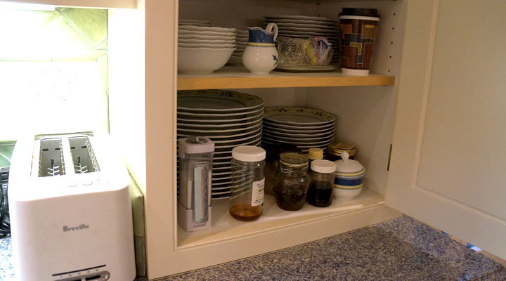 counter top storage cabinet