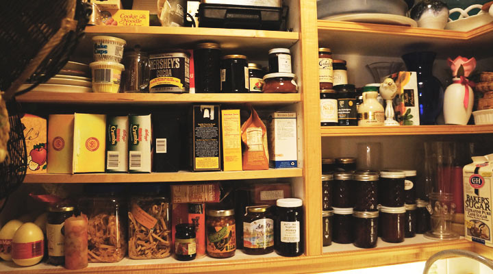 Group like items together in the pantry