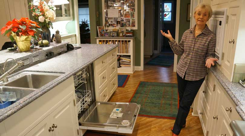 kitchen owner shows off her remodel