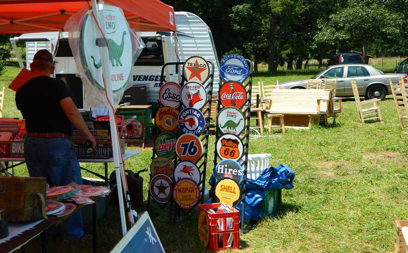 worlds largest yard sale vintage signs