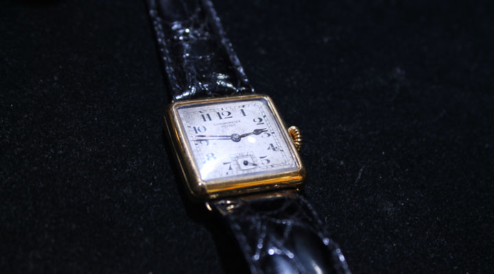 classic square-faced vintage watch
