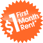 1$ First Month REnt*